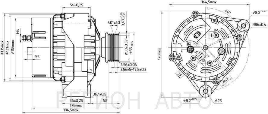 Фото №10 - размеры щётки генератора ВАЗ 2110